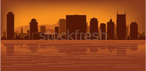 Tennessee Skyline réflexion eau ciel bâtiment Photo stock © Yurkaimmortal