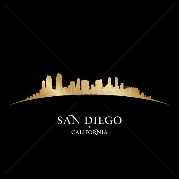 San Diego Califórnia silhueta preto céu Foto stock © Yurkaimmortal