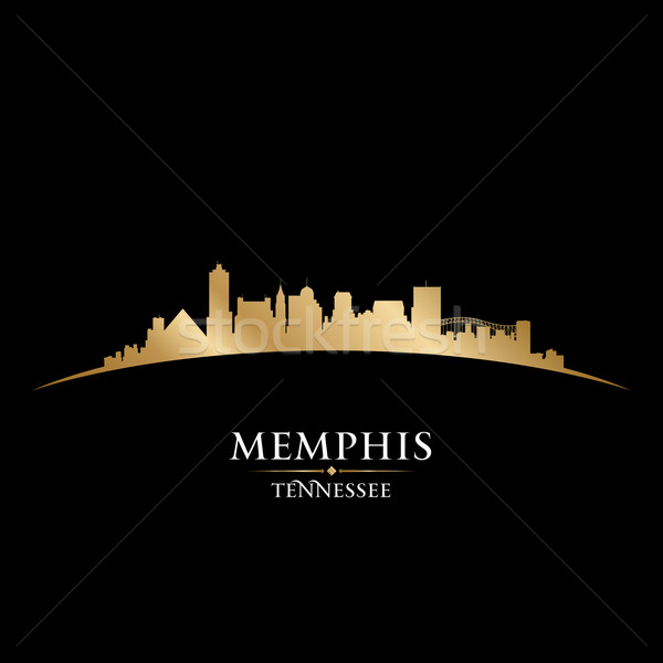 Memphis Tennessee city skyline silhouette black background  Stock photo © Yurkaimmortal