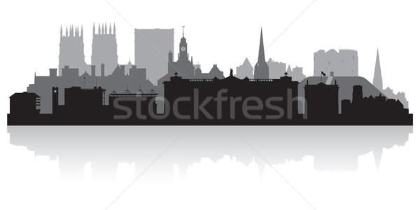 York city skyline silhouette  Stock photo © Yurkaimmortal