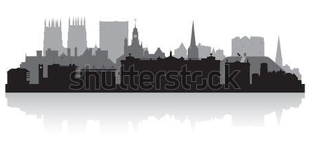 Liverpool silhueta negócio edifício fundo Foto stock © Yurkaimmortal