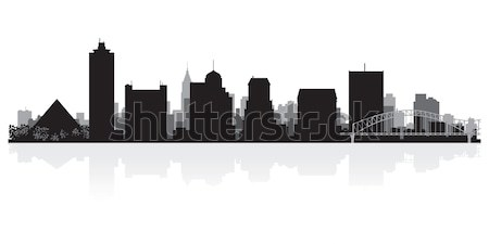 силуэта США бизнеса здании фон Сток-фото © Yurkaimmortal