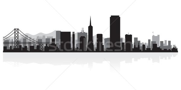 Foto stock: San · Francisco · silhueta · EUA · negócio · edifício