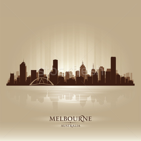 Melbourne Australia skyline city silhouette Stock photo © Yurkaimmortal