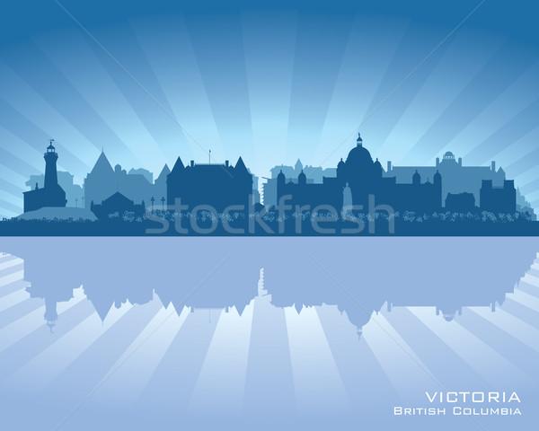 Canadá linha do horizonte reflexão água céu cidade Foto stock © Yurkaimmortal