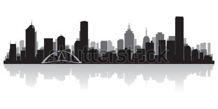Miami silhueta EUA negócio edifício Foto stock © Yurkaimmortal