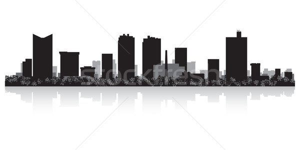 Fort Worth city skyline silhouette Stock photo © Yurkaimmortal