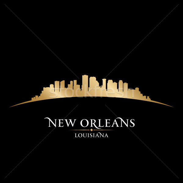 New Orleans Louisiana city skyline silhouette black background  Stock photo © Yurkaimmortal