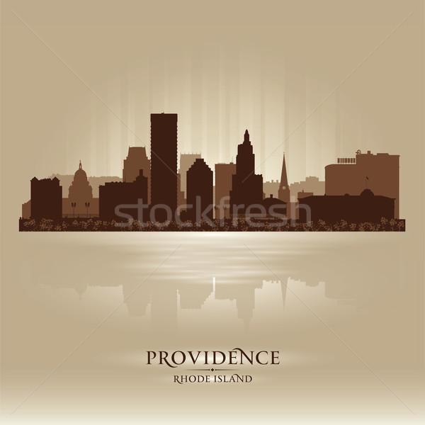 Stock photo: Providence, Rhode Island skyline city silhouette