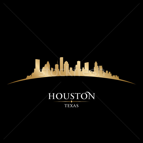 Houston Texas city skyline silhouette black background  Stock photo © Yurkaimmortal