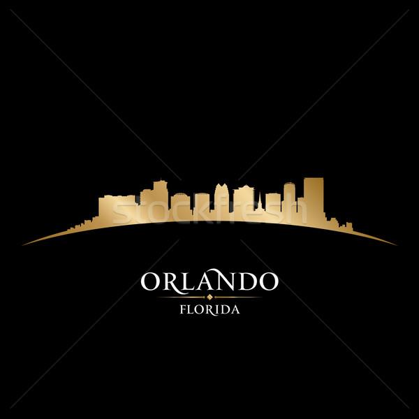 Orlando Florida şehir siluet siyah Stok fotoğraf © Yurkaimmortal