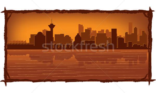 Vancouver skyline riflessione acqua cielo costruzione Foto d'archivio © Yurkaimmortal