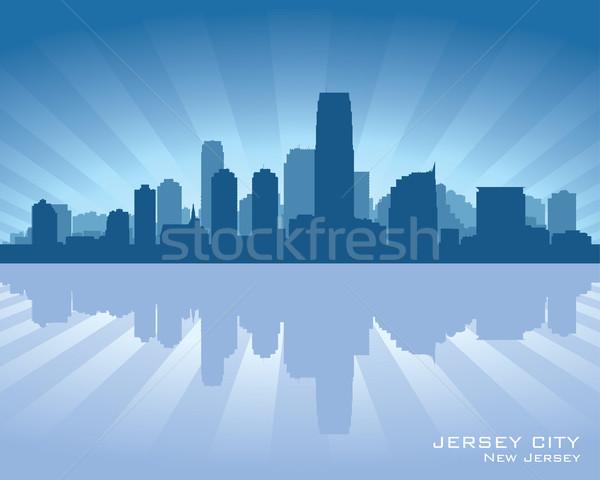 Jersey City, New Jersey skyline silhouette Stock photo © Yurkaimmortal