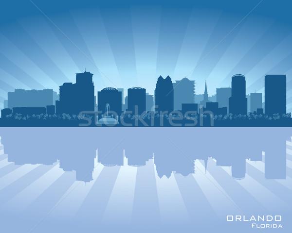 Orlando Floride Skyline ville silhouette bâtiment Photo stock © Yurkaimmortal