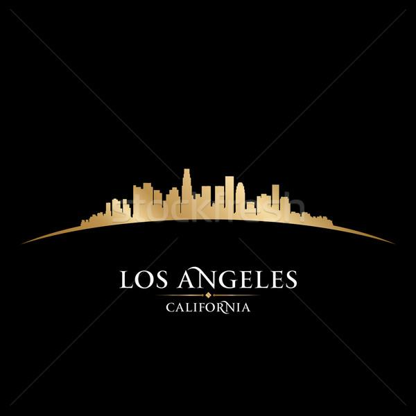 Los Angeles Califórnia silhueta preto céu Foto stock © Yurkaimmortal