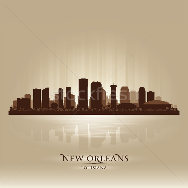 New Orleans Louisiana skyline city silhouette Stock photo © Yurkaimmortal