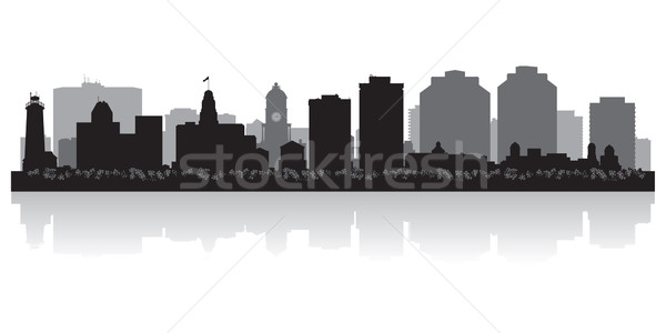 Canadá vector silueta negocios edificio Foto stock © Yurkaimmortal