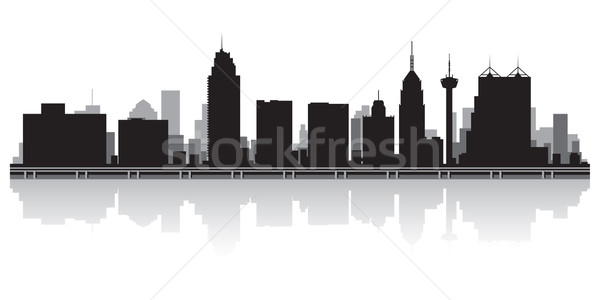 San Antonio city skyline silhouette Stock photo © Yurkaimmortal
