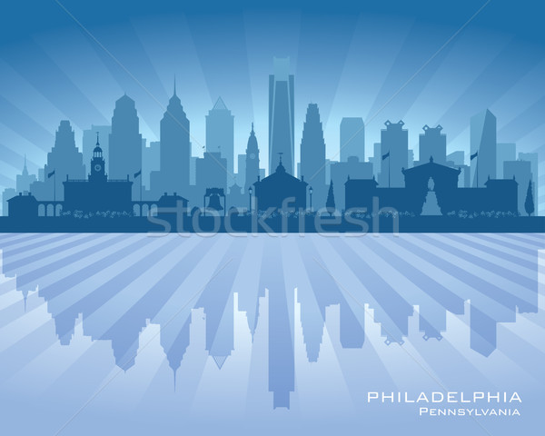 Stockfoto: Philadelphia · Pennsylvania · vector · silhouet · illustratie