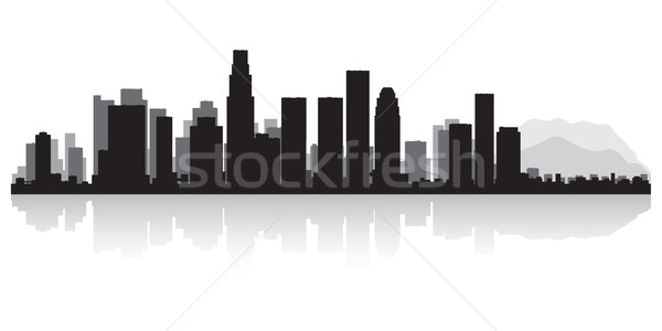 Los Angeles silhouet USA business gebouw Stockfoto © Yurkaimmortal