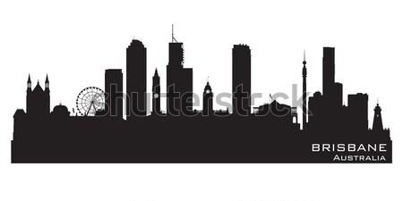 Нью-Мексико Skyline подробный силуэта здании черный Сток-фото © Yurkaimmortal