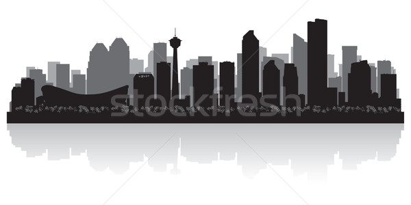 Calgary Canada city skyline vector silhouette  Stock photo © Yurkaimmortal