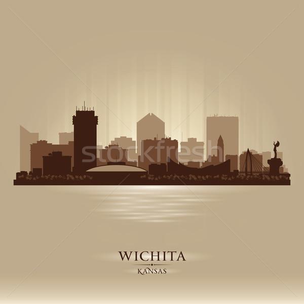 Kansas városkép vektor sziluett illusztráció város Stock fotó © Yurkaimmortal