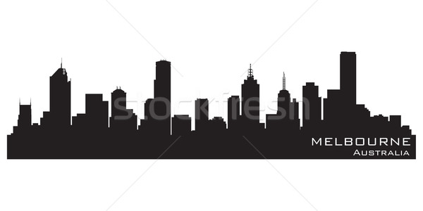 Melbourne, Australia skyline. Detailed vector silhouette Stock photo © Yurkaimmortal