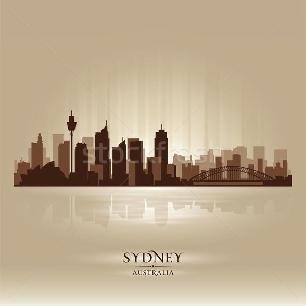 Sydney Australië skyline stad silhouet hemel Stockfoto © Yurkaimmortal
