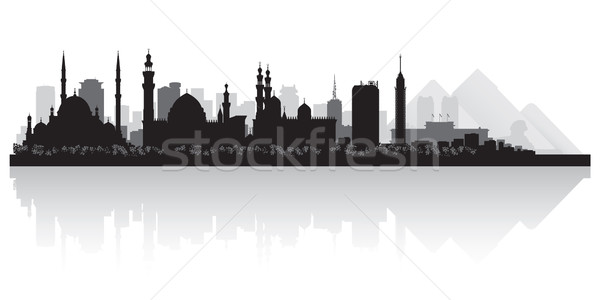 Cairo Egypt city skyline vector silhouette  Stock photo © Yurkaimmortal