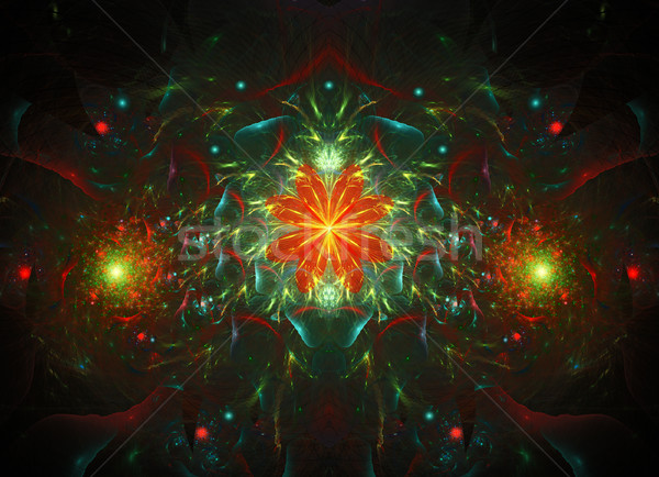 Stock photo: Colorful Fractal Background. A fractal is a natural phenomenon or a mathematical set that exhibits a
