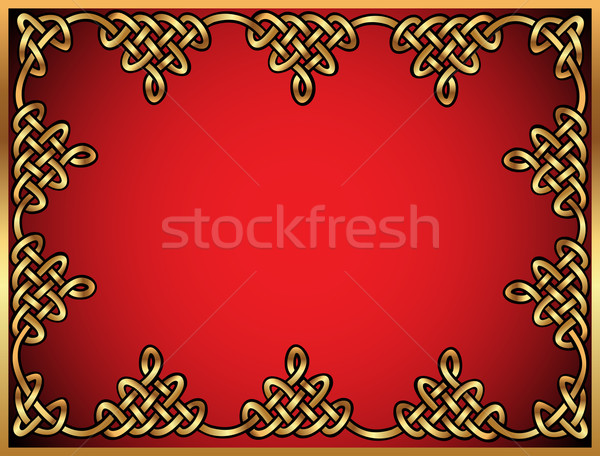 background with Celtic ornaments of gold  Stock photo © yurkina