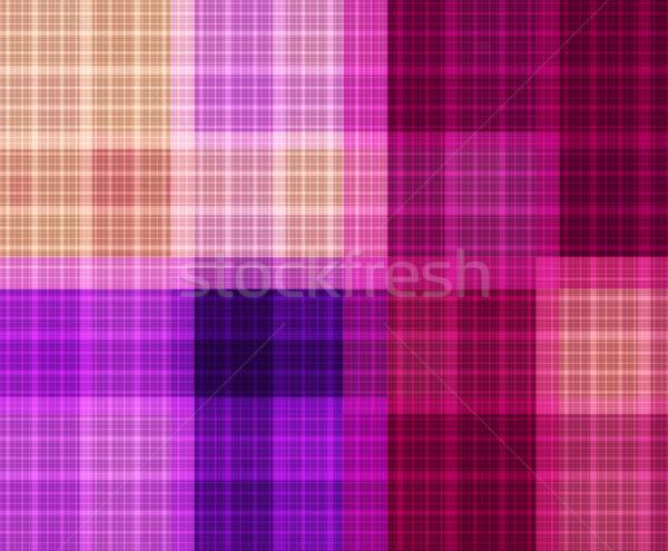 Fraktál fényes kockás minta végtelenített illusztráció Stock fotó © yurkina