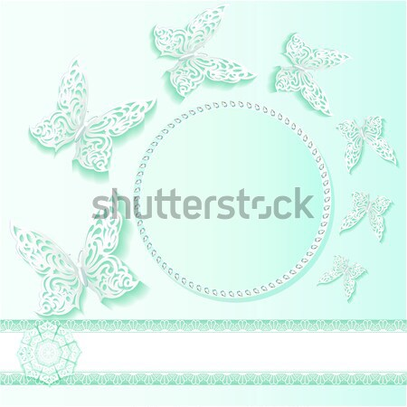 background frame with flowers made ​​of precious stones wit Stock photo © yurkina
