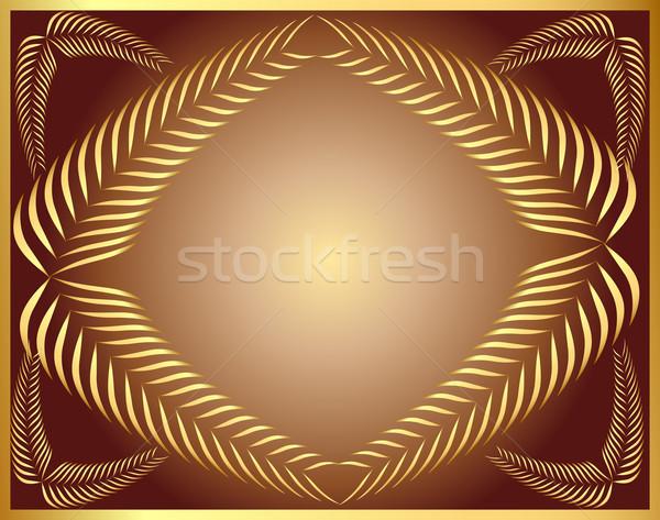 çerçeve altın kulak kakao örnek kâğıt Stok fotoğraf © yurkina