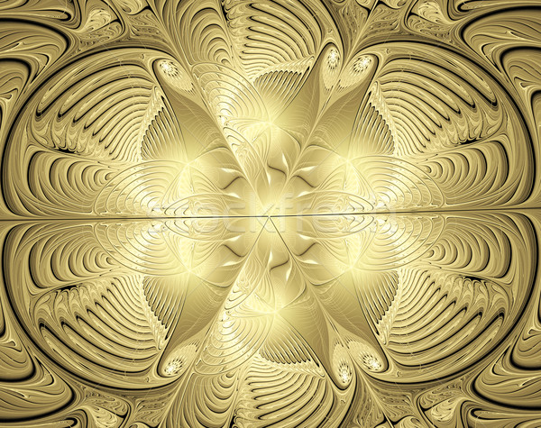 illustration background with shiny gold ornaments Stock photo © yurkina