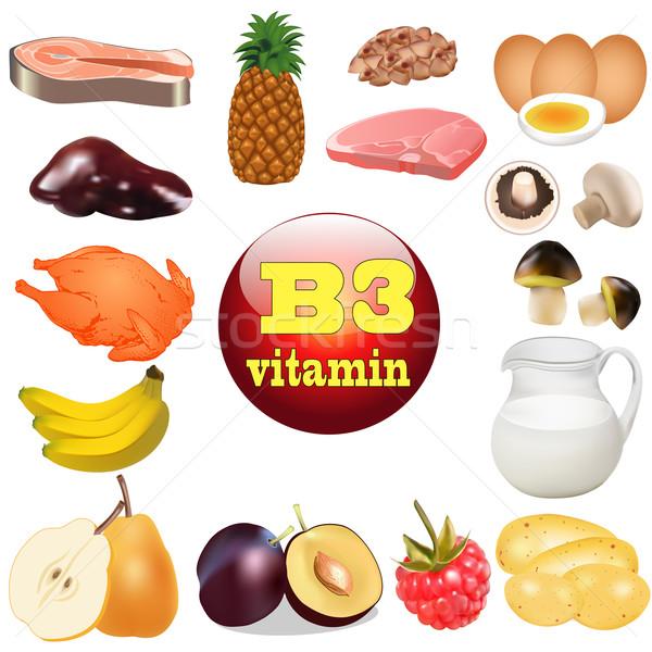 Сток-фото: три · витамин · происхождение · завода · иллюстрация