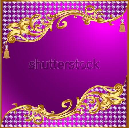 Oro ornamenti gioielli illustrazione texture Foto d'archivio © yurkina