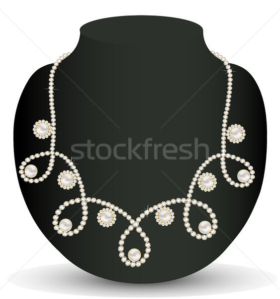 necklace women for marriage with pearls and precious stones Stock photo © yurkina