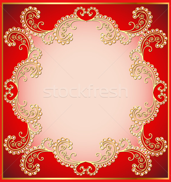 ancient background framed gold vegetative ornament Stock photo © yurkina