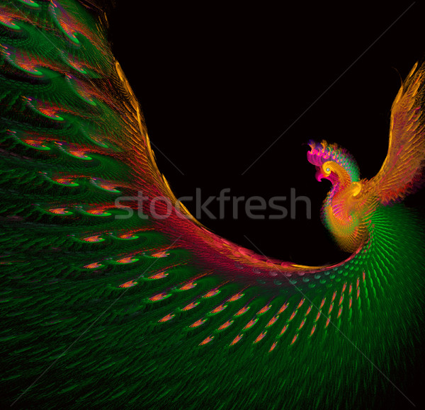 Fractal lumineuses belle paon illustration oeil Photo stock © yurkina