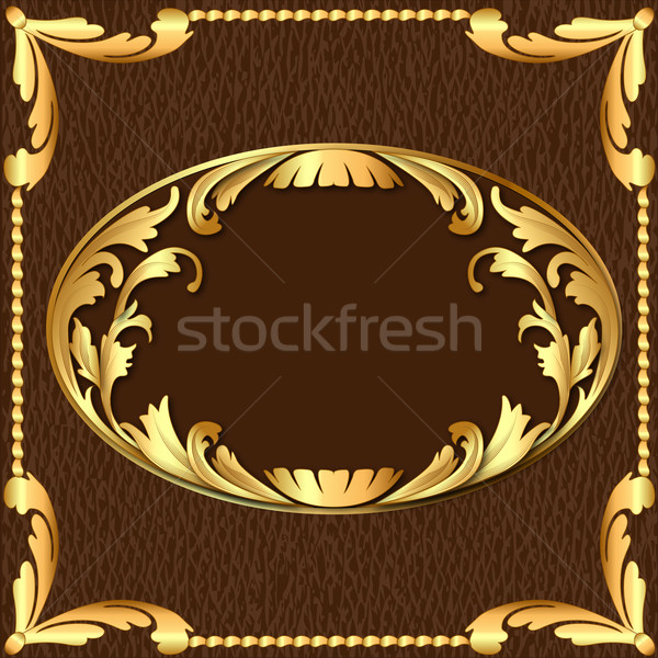 background with gold pattern and texture of the skin Stock photo © yurkina