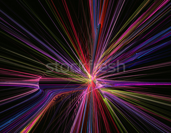 fractal abstract background illustration line movement on highwa Stock photo © yurkina