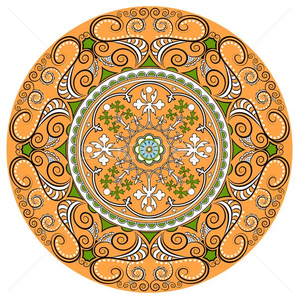 Mandala. Round Ornament Pattern.Geometric circle element made in Stock photo © yurkina