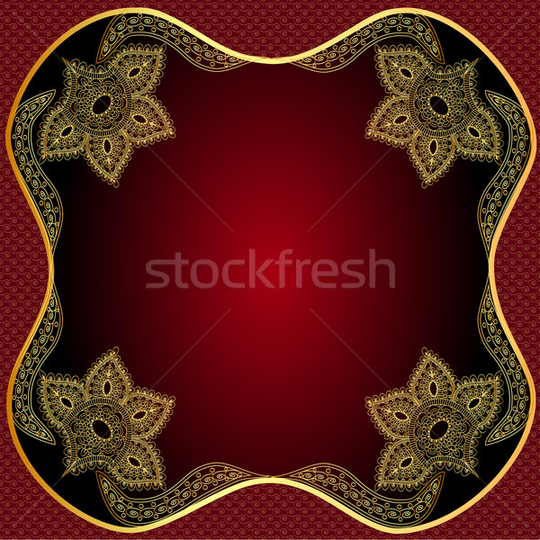Frame piazza rosolare vegetali pattern Foto d'archivio © yurkina