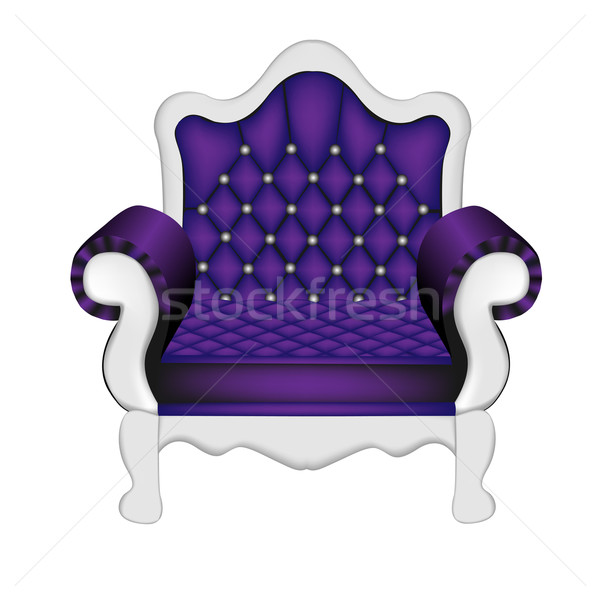 an ancient violet chair on the white Stock photo © yurkina