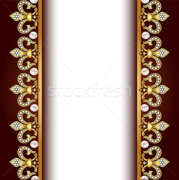 金 真珠 実例 抽象的な デザイン ストックフォト © yurkina