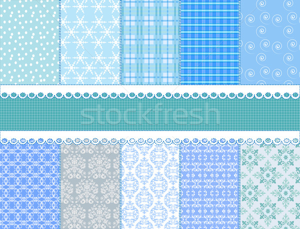 set flower vector paper for scrapbook Stock photo © yurkina