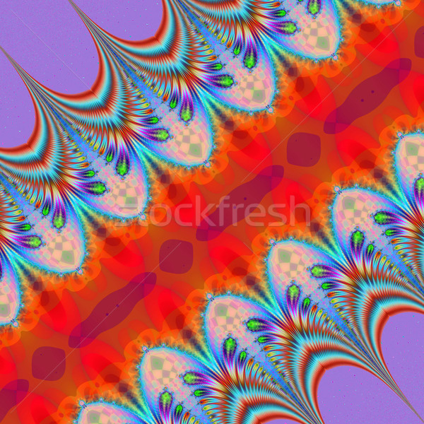 Colorful Fractal Background. A fractal is a natural phenomenon o Stock photo © yurkina