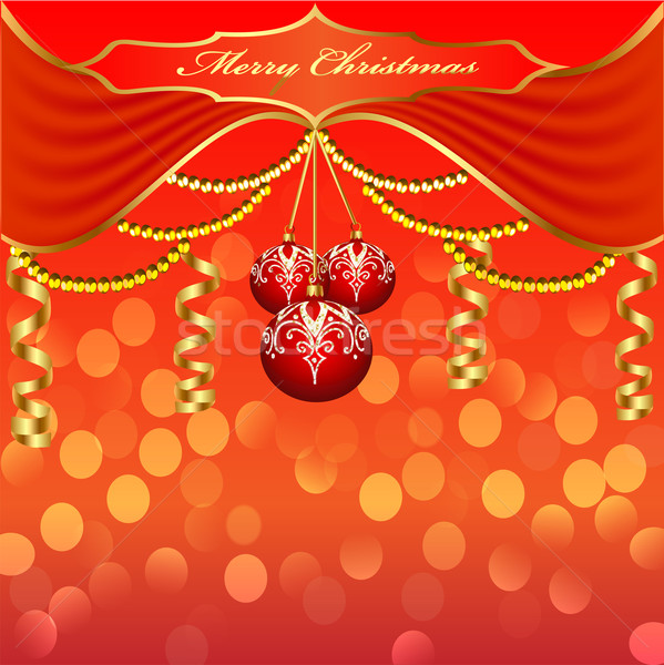 background with Christmas baubles and beads Stock photo © yurkina